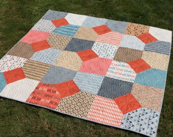 Large Lap Quilt perfect for a Picnic Quilt or Movie Night