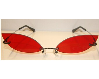 Red streach cosplay costume glasses V4