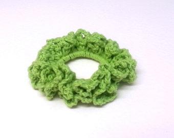 Cotton Crochet Hair Scrunchie, Crochet Hair Accessories, Crochet Hairband, Crochet Hair Ties. FREE UK Delivery
