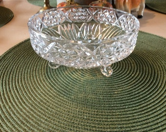 Crystal Footed Dish, Vintage