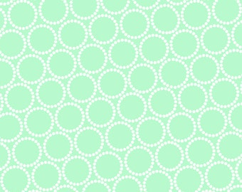 ON SALE - Mini Pearl Bracelets in Sea Glass - Lizzy House for Andover Fabrics - A-7829-G2 - 1/2 Yard