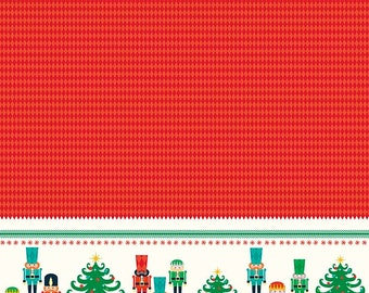 Nutcracker Christmas - Panel Print in Red - RBD Designers for Riley Blake Designs - P5331-RED - 1/2 Yard