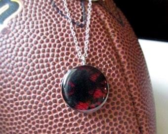 Black and Red GameDay Necklace/ UGA/ Georgia Bulldogs/ Athens/ Atlanta Falcons/ Football/ School Spirit/ High School Colors/ Cardinals