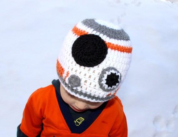Free Star Wars Bb 8 Crochet Pattern : CROCHET PATTERN: BB-8 Star Wars Droid Crochet Hat pattern