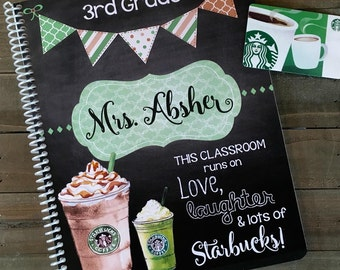 Spiral Notebook, Custom Notebook, Personalized Sketchbook, Personalized Notebook, Personalized Journal, Personalized Diary *Starbucks*