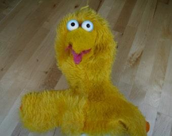Vintage Big Bird Sesame Street Hand Puppet 1980