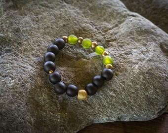 Bead bracelet, African jewelry, Chunky bracelet, Black  Beaded bracelet, gift for men, Husband gift, Gift for boyfriend, Birthday gift,
