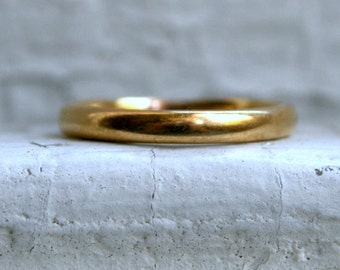 Vintage 22K Yellow Plain Gold Wedding Band by Ostby & Barton.