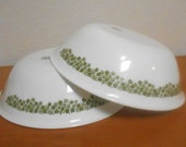 Corelle Spring Blossom Daisy Serving Bowls or Vegetable Bowls, Set of 2 Crazy Daisy Bowls, Wonderful Condition