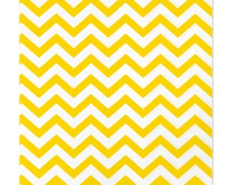 100 Yellow Chevron Paper Bags, 6 x 9 inches - Flat Merchandise Bags