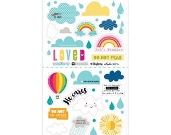 His Promise - Cardstock Stickers from Illustrated Faith - 45 Pieces - Use for Scrapbooks, Journals, Bibles, Handmade Cards