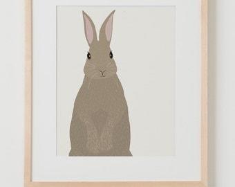 Fine Art Print.  Rabbit.  January 6, 2016.