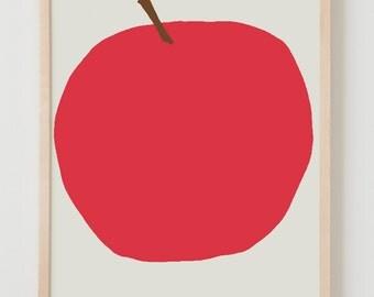 Fine Art Print.  Red Apple. September 5, 2012.