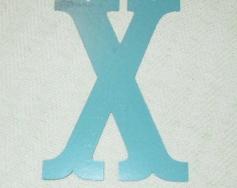 Blue Metal Magnetic Letter - Letter X - Personalize It