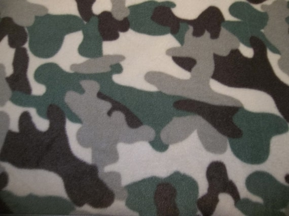 Camo Camouflage Hunters Green Brown Olive Camo Anti Pill Baby