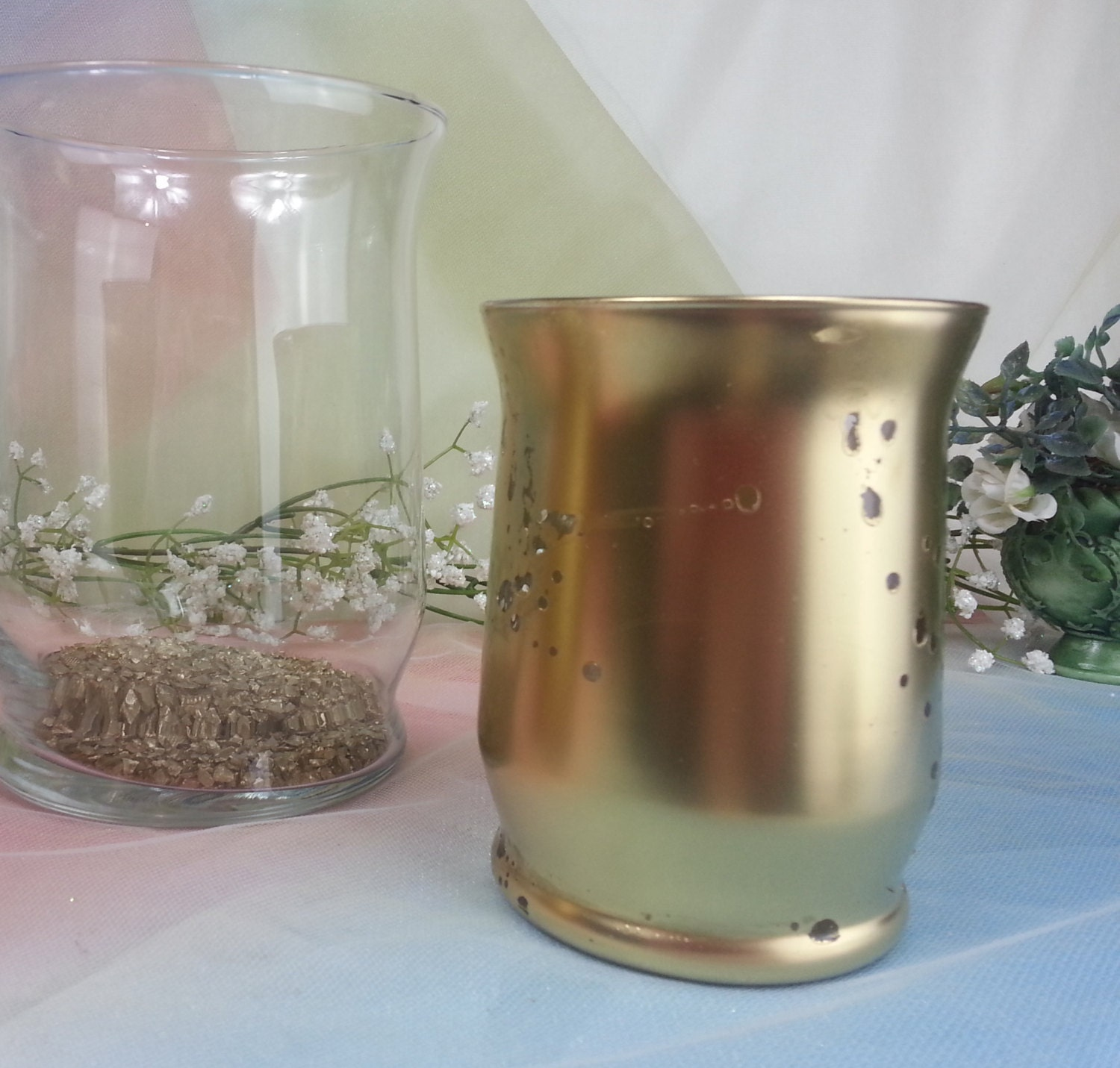 In order tall mercury glass votive candle holder vases