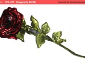 SALE Iron On Sequined Rose Flower Hot Fix Patch Applique for Crafts