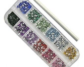 Sale 3000 PCS Colorful Rhinestones Studs 3D Nail Art Acrylic Rivets Tools and FREE Gift