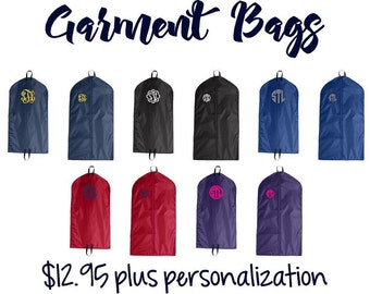 Monogrammed Garment bag