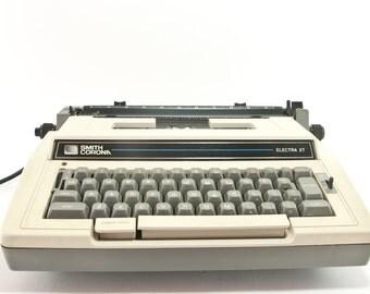 Vintage Typewriter, Smith Corona Electra XT Electric Typewriter, Vintage Electric Typewriter,