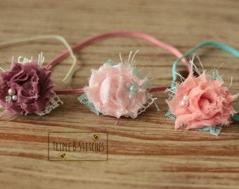 Newborn headbands-set of 3 tiny headbands