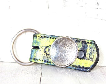 Leather Key Ring | Womens Keychain | Concho KeyRing | Key Fob | Unique Key Chain | Key Ring | Gift For Her |