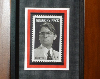 Framed Gregory Peck Forever Stamp - No. 4526