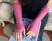 ROSE Fingerless Gloves in cashmere, fingerless mittens, armwarmers
