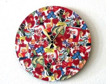 SALE, Retro Wall Clock, Home Gifts, Decor and Housewares, Home and Living, Home Decor, Wall Decor, Unique Clock