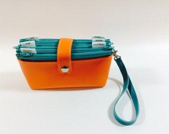 Cash Budget Clutch - Orange