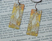 Mucha earrings Mucha jewelry art earrings mixed media jewelry
