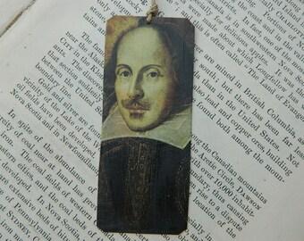 Bookmark Shakespeare Literature bookmark metal bookmark