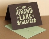 MultiPack - 5 Pale Yellow Oakland Grand Lake Theater Cards