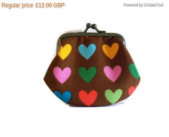 On SALE Framed coin purse - heart design - small- UK Seller
