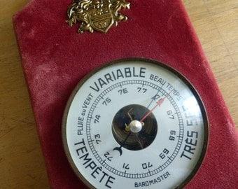 Vintage French Barometer, Shabby Chic Circa 1950 -1960
