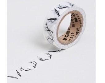 Diary Scrapbook Adhesive Masking Deco Washi Tape - Deer Antlers (1.5 cm Width)