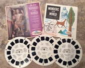 View-Master Reels The Seven Wonders of the World  The Original Sleeve Viewmaster Reels Sawyer's B901 1962