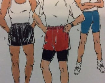 Pattern for Men's Shorts Pull-on Shorts UNCUT Kwik Sew 2064 Size S M L XL