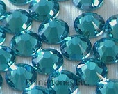 Blue Zircon 2058 Swarovski Elements Rhinestones, 30ss Flatback 10 pieces