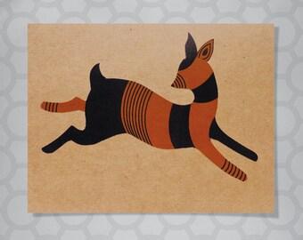 Illustrated Deer Note Card
