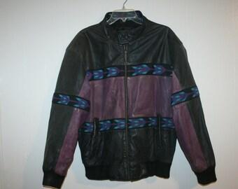 Large Southwestern Jacket,large leather jacket,leather coat,leather jacket,tribal,leather jacket men,bomber jacket men,bomber jacket large