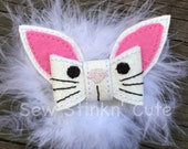 Machine Embroidered Maribu Fluffy 3D Easter Bunny Hairbow