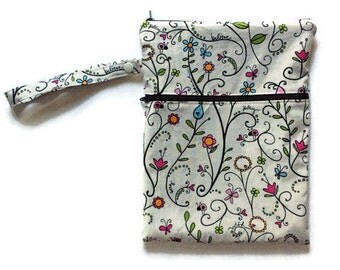 Wet Bag for Cloth Pads, Wet Dry Bag, Wet Bathing Suit Bag, Small Wet Bag, Small Wet Dry Bag