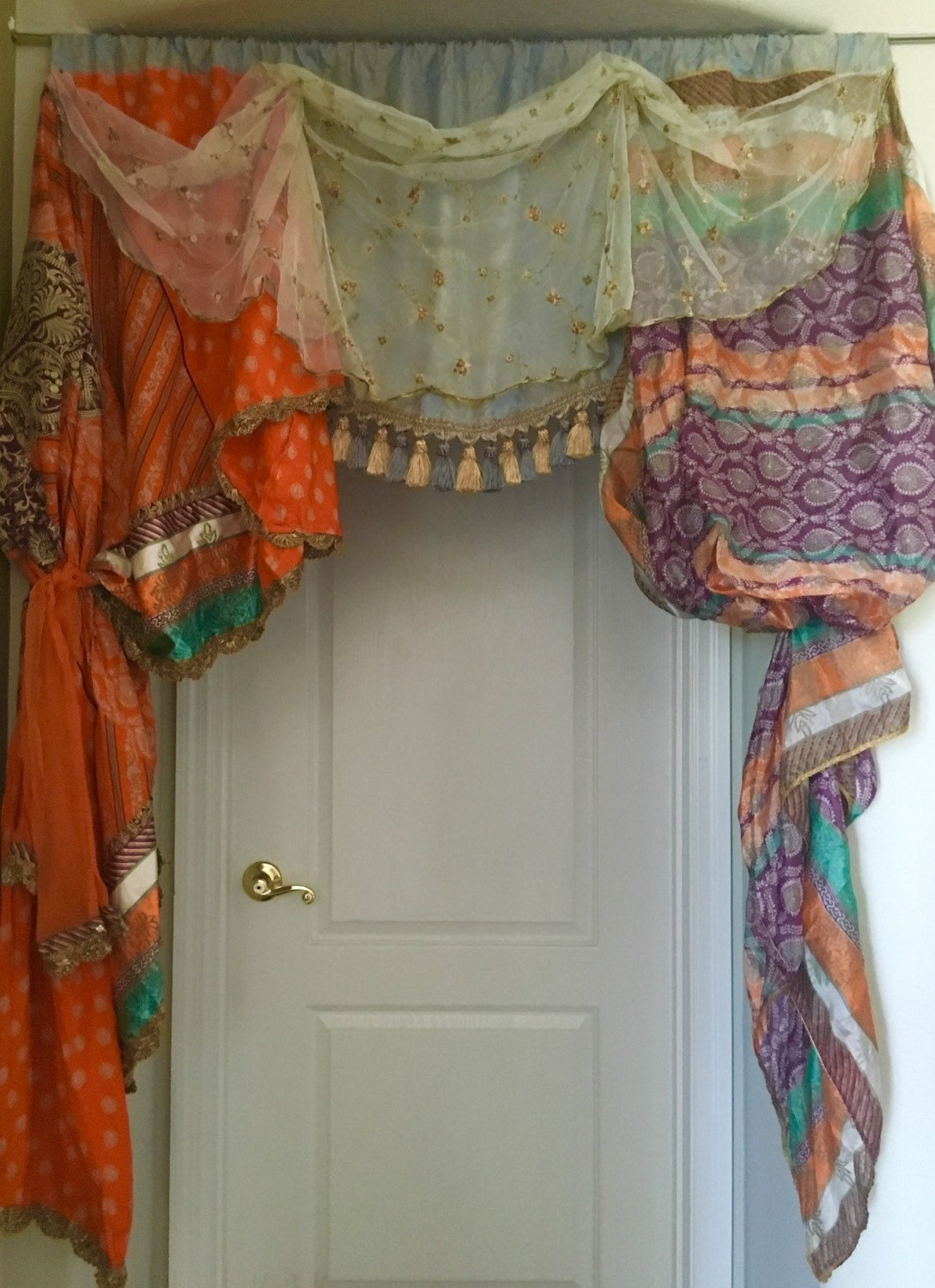 Bohemian Window Treatment Valance One Of A By