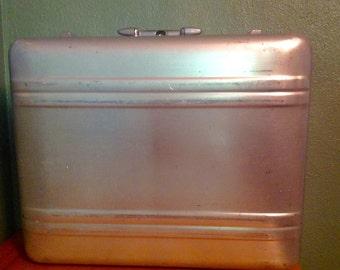 Vintage Halliburton metal aluminum suitcase luggage travel decor display