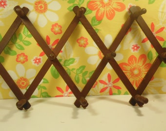 Accordion Peg Wall Hanger - 10 Pegs - Made In Taiwan