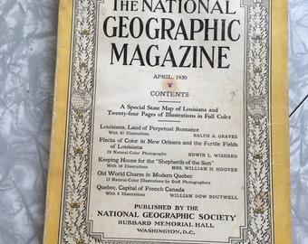 April 1930. Vintage Magazine, National Geographic, Vintage Photography, Vintage Photos