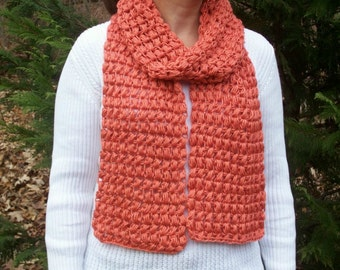 Persimmon Puff Stitch Scarf