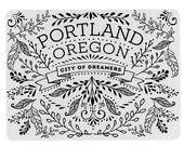 5 Portland Postcards, Vintage, Floral, Pretty Flowers