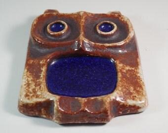 Vintage Buchtal Ceramic Owl
